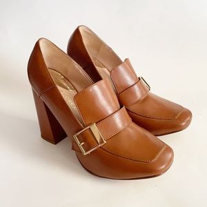 andrea brown buckle heeled shoes